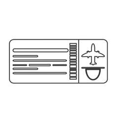 Airplane ticket icon line design vector