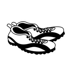 American football shoes on white background vector