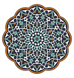 Arabic circular pattern vector