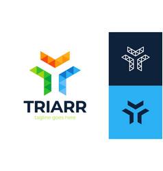 Arrow logistic logo transport logistic logo vector
