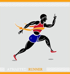 Athlete runner vector