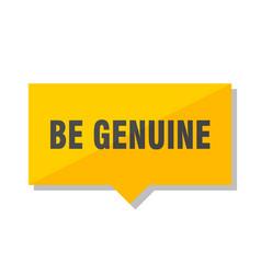Be genuine price tag vector
