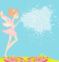 beautiful fairy graphic vector image