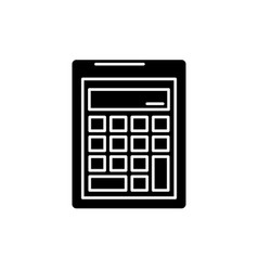 business calculation black icon sign o vector image