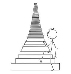 Cartoon man or businessman walking up the vector