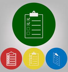 checklist sign 4 white vector image