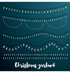 Christmas Garlands Set vector image vector image