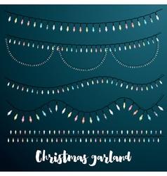 Christmas Garlands Set vector