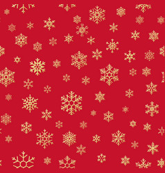 christmas snowflakes seamless repeating pattern vector image