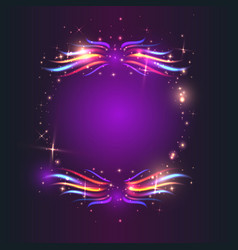 circle of fire with colorful flames vector image