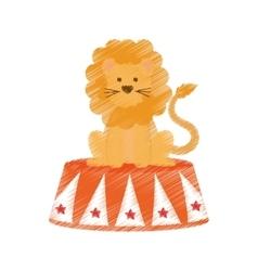 Circus lion cartoon vector