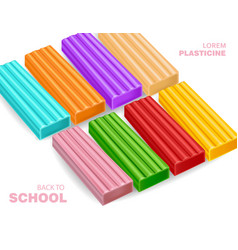 colorful plasticine back to school concept vector image