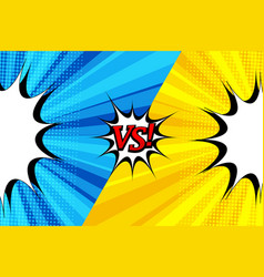 Comic duel bright template vector