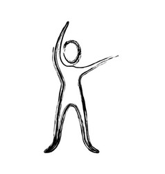 contour person stretching icon vector image vector image