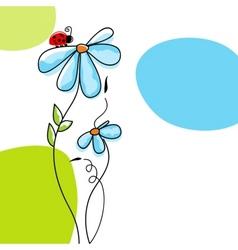 cute nature scene vector image