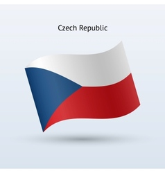 Czech Republic flag waving form vector image