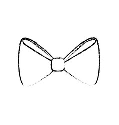 Decorative bow tie vector