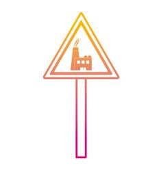 Degraded line triangle caution emblem factory vector