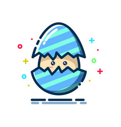 Egg hatch with a smile expression vector