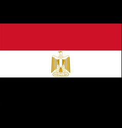 flag of egypt in official rate and colors vector image