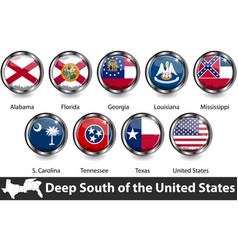 flags deep south us vector image