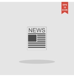 Flat icon of news vector image