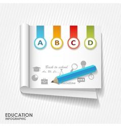 Flat online education vector image