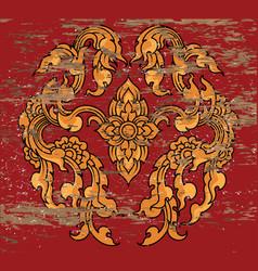 Flora art pattern vector