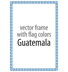 Frame and border of ribbon with the colors vector