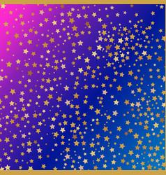 Glowing golden stars on gradient blue background vector