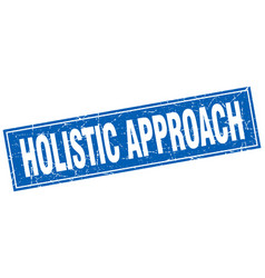 Holistic approach square stamp vector