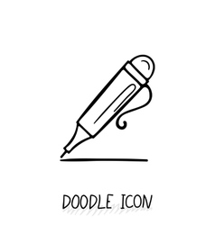Icon doodle automatic pen vector
