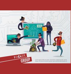 internet hacker composition vector image