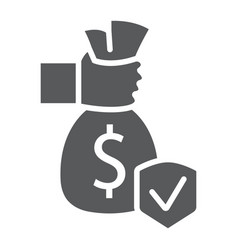 investment insurance glyph icon protection and vector image