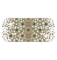 Islamic green arab seamless texture vector