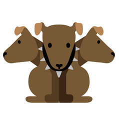 Isolated cerberus icon vector