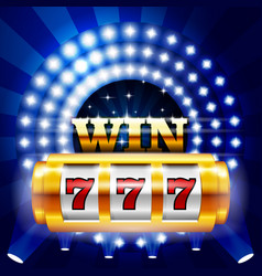 Jackpot - 777 on casino slot machine big win vector