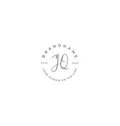 Jq letter feminine logo design vector