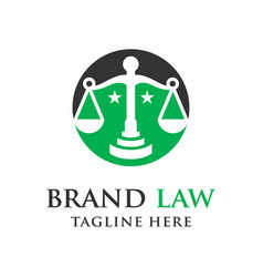 law logo vector image