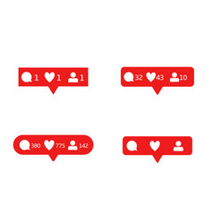 Like comment follower icons vector