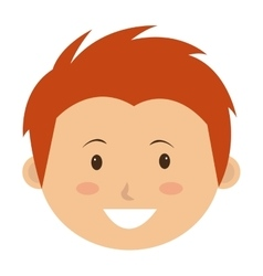 Little and cute kid smiling vector
