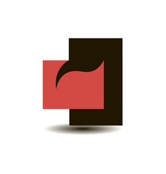 logo black and red rectangle with a smooth vector image