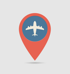 map pin airport vector image