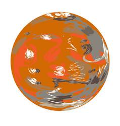 Mars doodle vector
