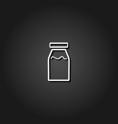medicine line bottle icon flat vector image