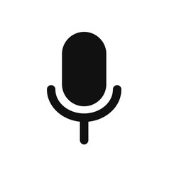 microphone icon in modern design style for web vector image