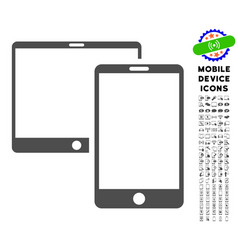 Mobile devices icon with set vector