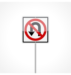 No U-Turn Sign vector image