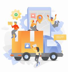 Online cargo tracking vector