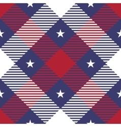 Patriotic tartan seamless patterns vector